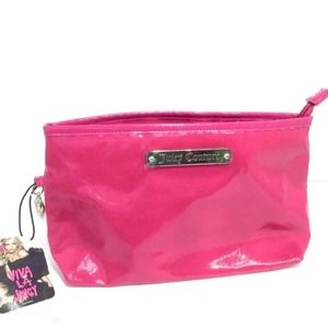 Juicy Couture Pink Cosmetic Bag 6 x 11 x 3.5 NWT